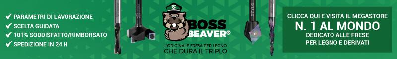 Fraiser Boss Beaver | L'originale fresa per legno che dura il Triplo